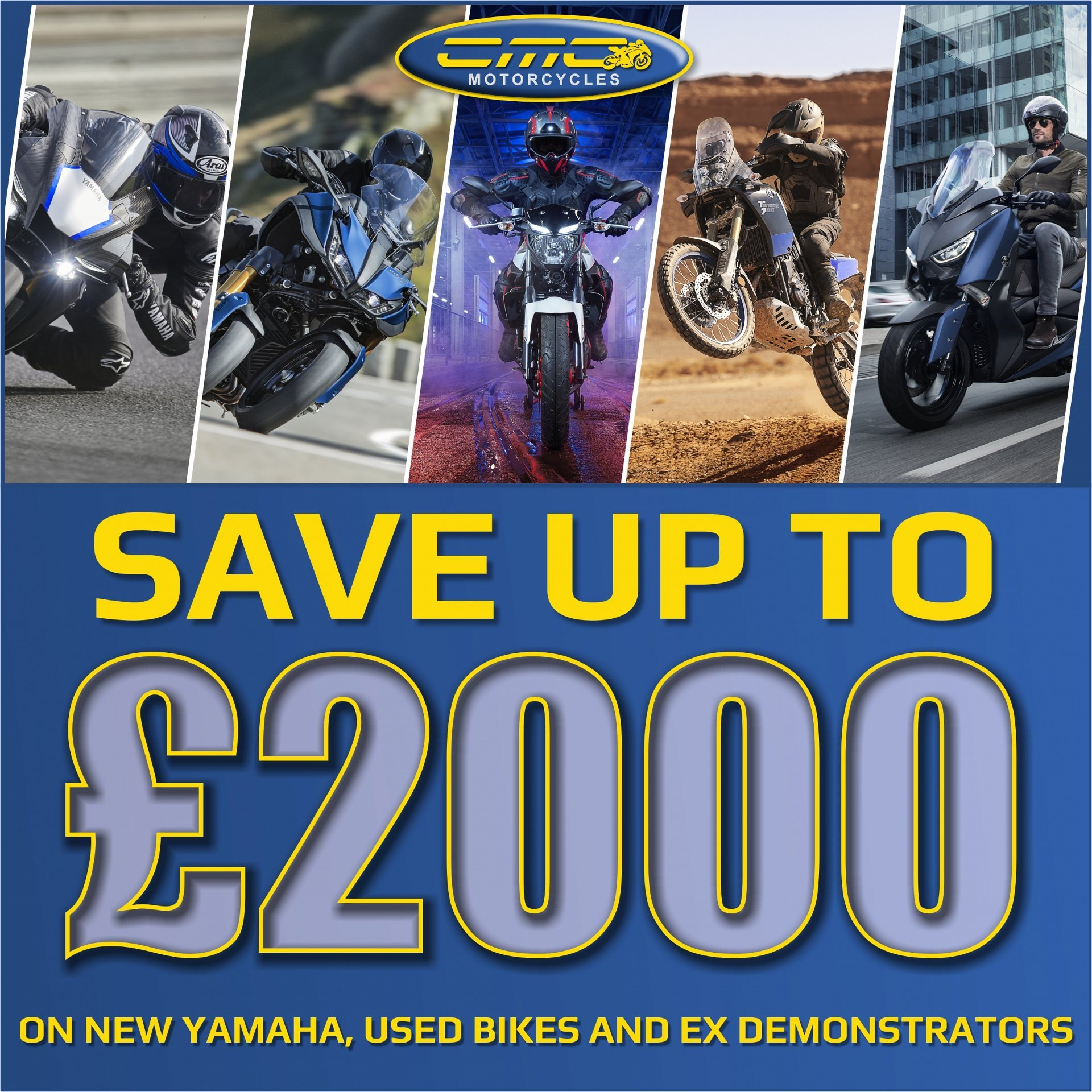 Huge discounts on brand new Yamaha Motorcycles and Used Bikes.