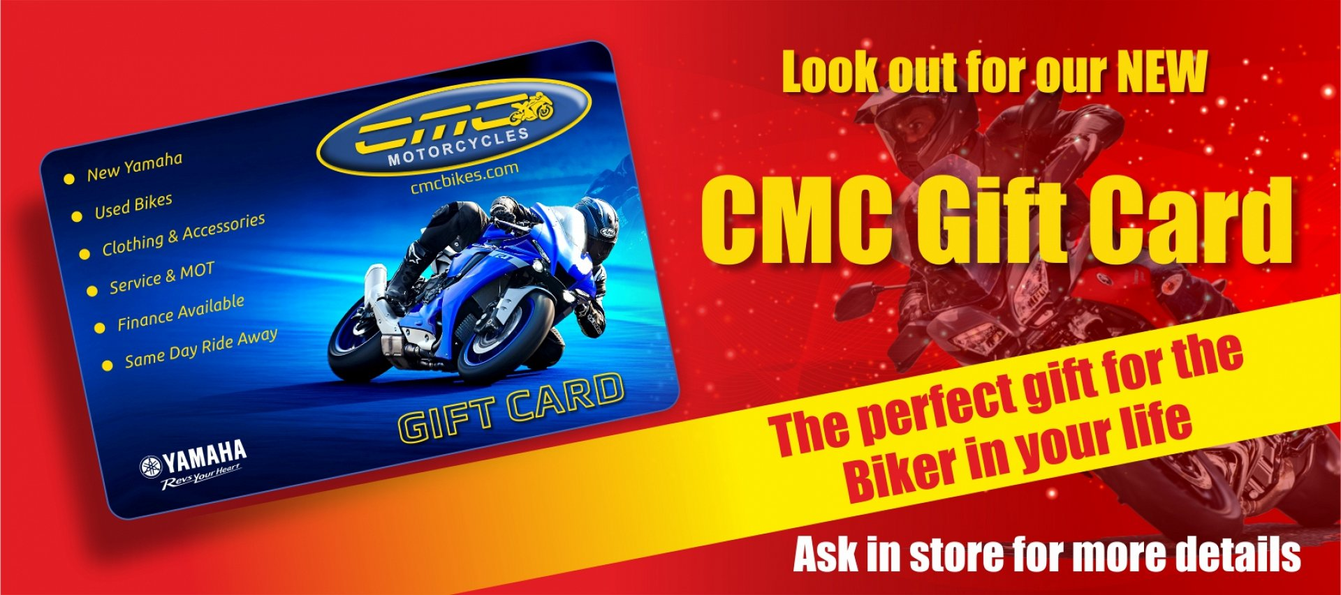 CMC Gift Vouchers - Now Available