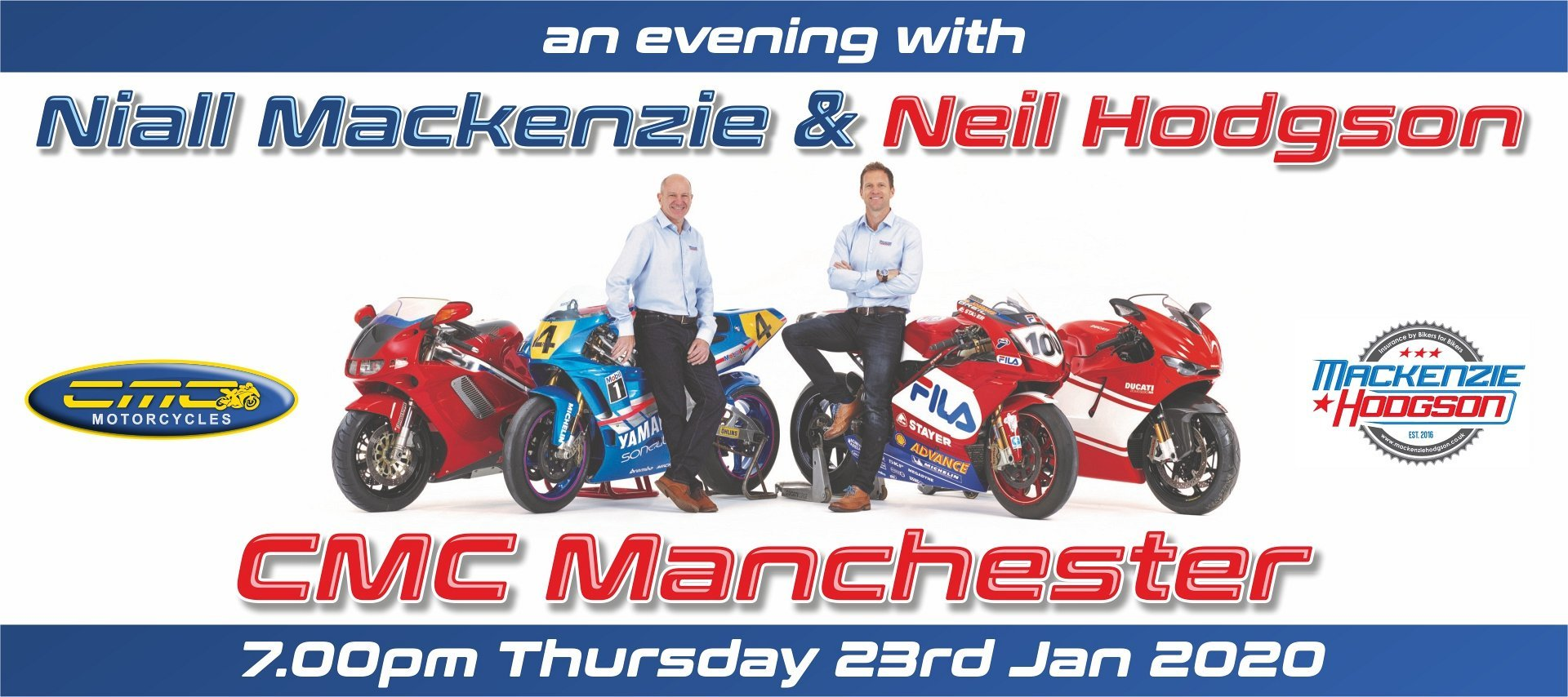 An evening with Niall MacKenzie & Neil Hodgson