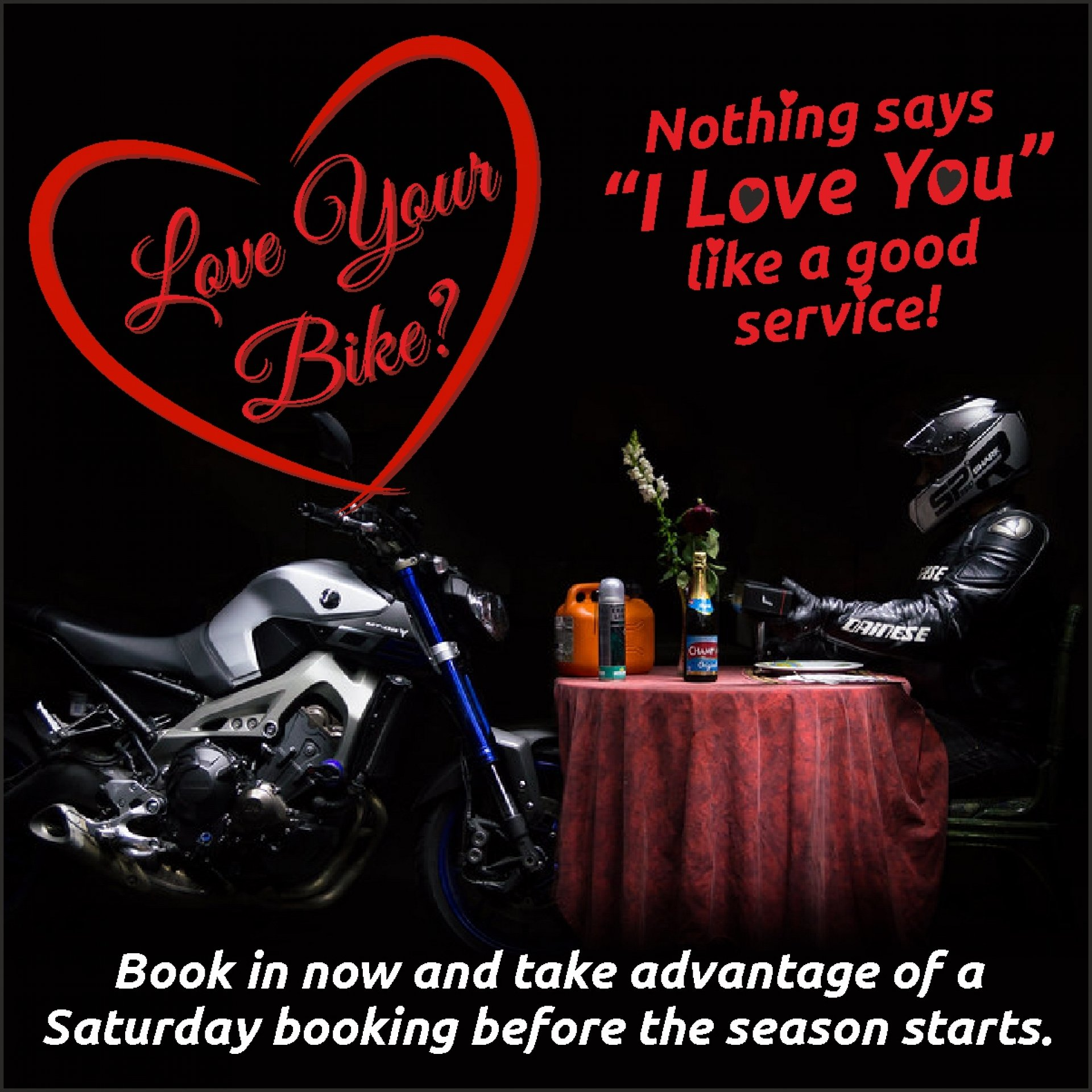Nothing says I love you like a service on your bike!